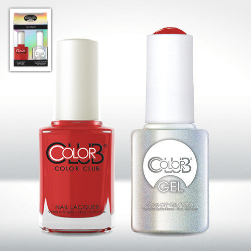 Color Club Nail Lacquer And Gel Polish, Cadillac Red, 0.5oz, GEL115 KK