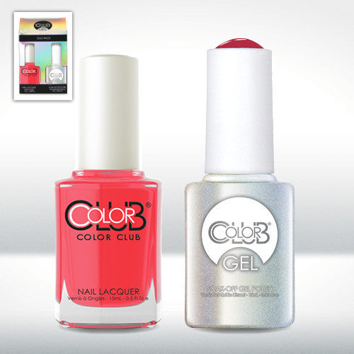 Color Club Nail Lacquer And Gel Polish, Watermelon Candy Pink, 0.5oz, GEL225 KK