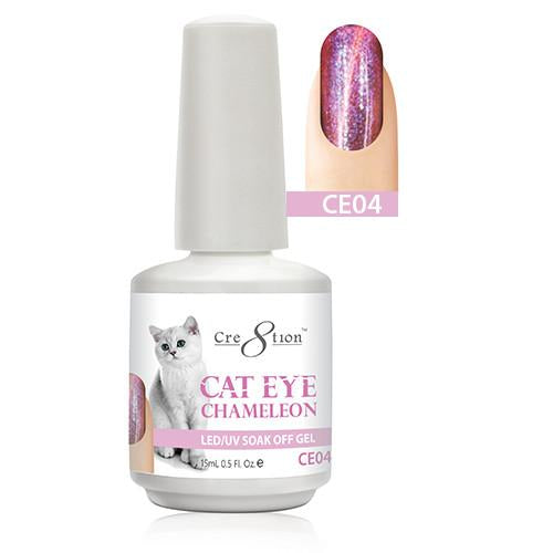 Cre8tion Cat Eye Chameleon Gel Polish, 0916-0574, 0.5oz, CE04 KK1010