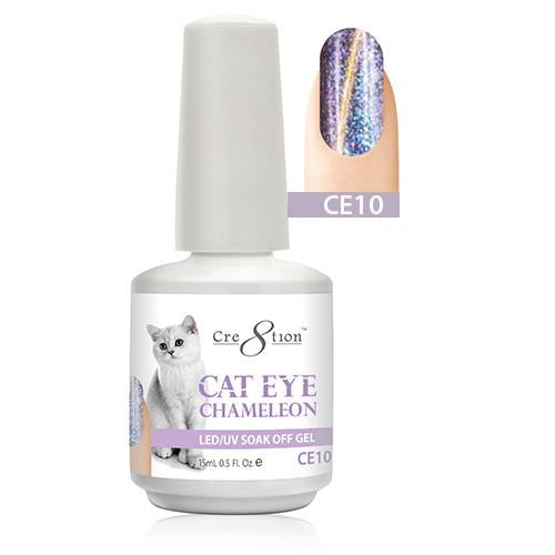 Cre8tion Cat Eye Chameleon Gel Polish, 0916-0580, 0.5oz, CE10 KK1010