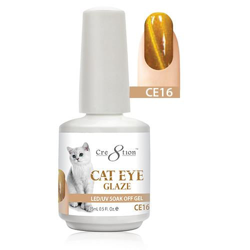 Cre8tion Cat Eye Glaze Gel Polish, 0916-0465, 0.5oz, CE16 KK1010