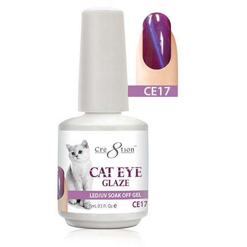 Cre8tion Cat Eye Glaze Gel Polish, 0916-0466, 0.5oz, CE17 KK1010