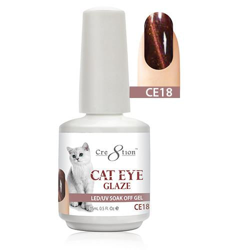 Cre8tion Cat Eye Glaze Gel Polish, 0916-0467, 0.5oz, CE18 KK1010