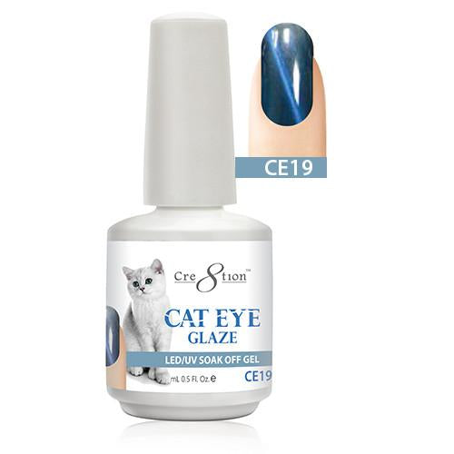 Cre8tion Cat Eye Glaze Gel Polish, 0916-0468, 0.5oz, CE19 KK1010