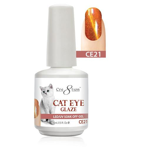 Cre8tion Cat Eye Glaze Gel Polish, 0916-0470, 0.5oz, CE21 KK1010