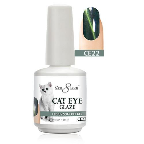 Cre8tion Cat Eye Glaze Gel Polish, 0916-0471, 0.5oz, CE22 KK1010