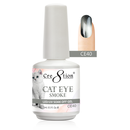 Cre8tion Cat Eye Smoke Gel Polish, 0916-1827, 0.5oz, CE40 KK0713