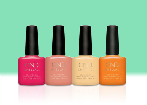 CND Shellac Gel, Boho Spirit Collection, Full line of 4 colors (from 92348 to 92351)
