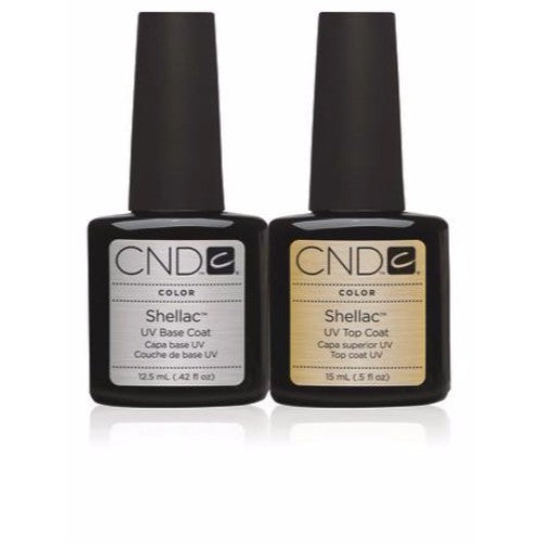 CND Shellac Gel Polish, UV Top Coat and Base Coat, 0.5oz