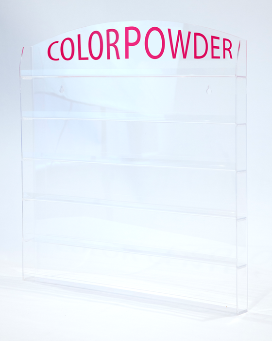 "Cre8tion Acrylic Wall Mounted Rack ""Color Powder"", 72 jars, 1oz, (Packing: 6pcs/case) 10167 OK0401VD"