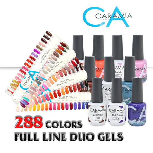 Caramia Nail Lacquer And Gel Polish Full Line (From 001 To 288, Price: $5.95/pc)