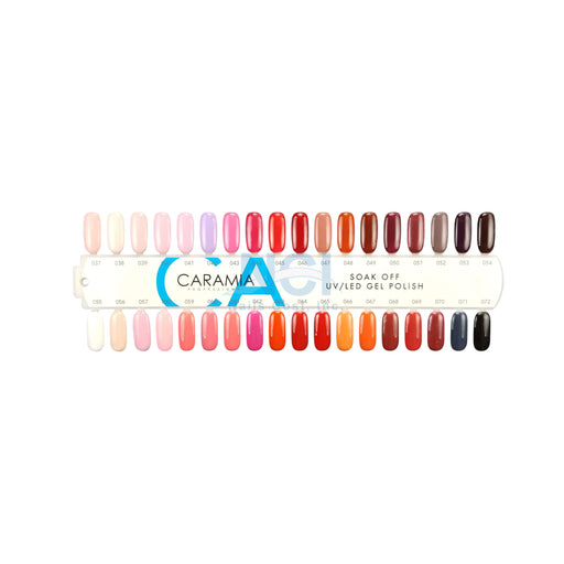 Caramia Nail Lacquer And Gel Polish Tips Sample, #02, From 037 To 072 KK