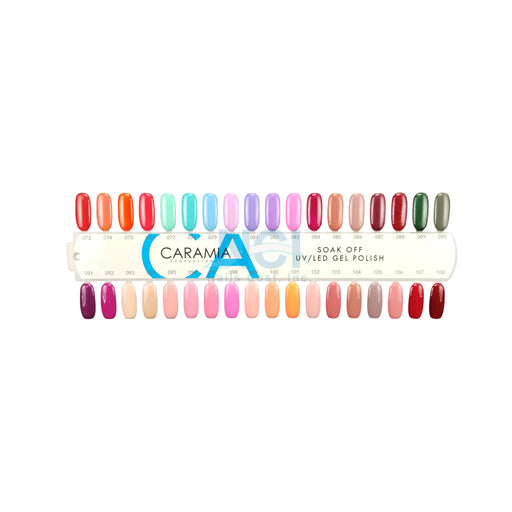 Caramia Nail Lacquer And Gel Polish Tips Sample, #03, From 073 To 108 KK