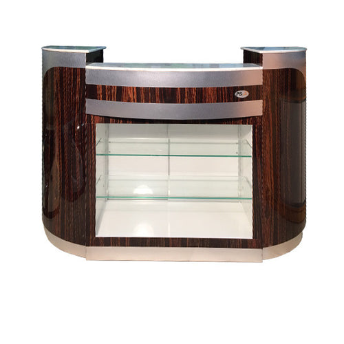 SPA Reception Desk, Cherry/Aluminum, C-209CA (NOT Included Shipping Charge)