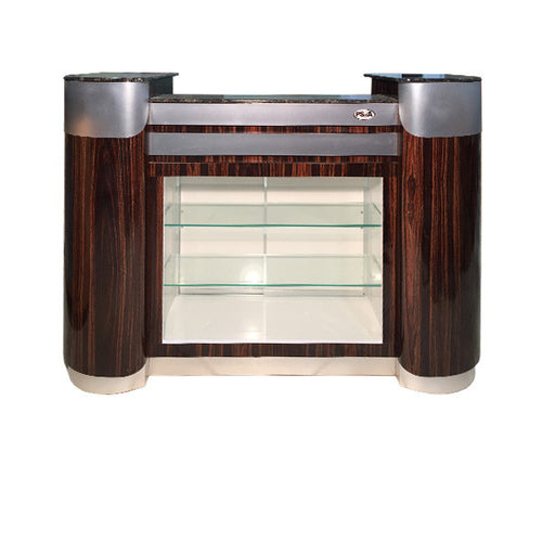 SPA Reception Desk, Cherry/Aluminum, C-108CA (NOT Included Shipping Charge)