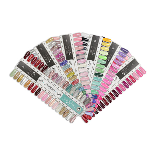 Cre8tion Gel Polish And Nail Lacquer Full line of 216 colors, Tips Sample KK1004