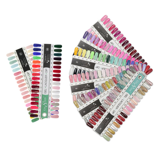 Cre8tion Gel Polish And Nail Lacquer Full line of 288 colors, Tips Sample