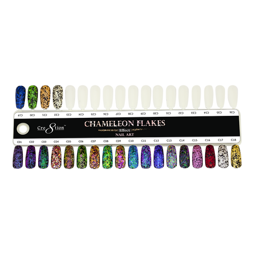 Cre8tion Nail Art Chameleon Flakes Tips Sample KK