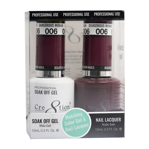 Cre8tion Gel Polish And Nail Lacquer, 0916-0847, 0.5oz, 006 KK0830