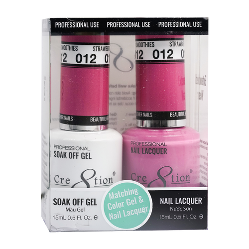 Cre8tion Gel Polish And Nail Lacquer, 0916-0853, 0.5oz, 012 KK0919