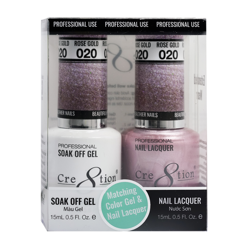 Cre8tion Gel Polish And Nail Lacquer, 0916-0861, 0.5oz, 020 KK0905