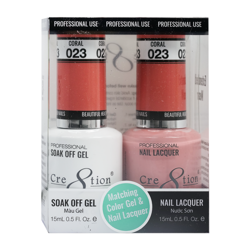 Cre8tion Gel Polish And Nail Lacquer, 0916-0864, 0.5oz, 023 KK0905