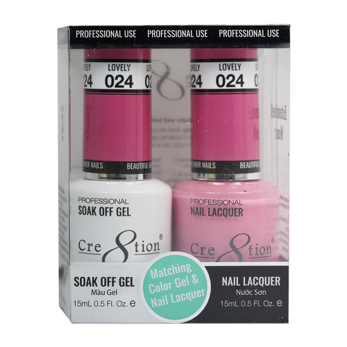Cre8tion Gel Polish And Nail Lacquer, 0916-0865, 0.5oz, 024 KK0919