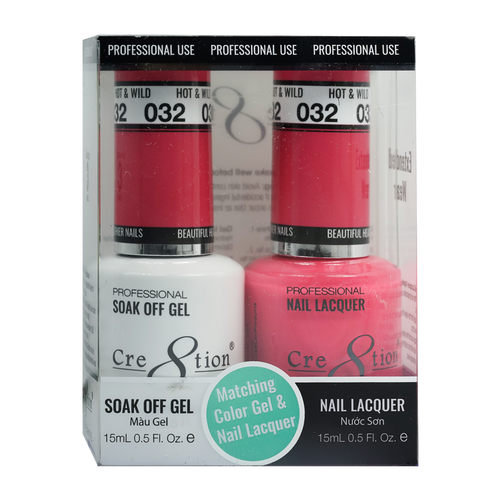 Cre8tion Gel Polish And Nail Lacquer, 0916-0873, 0.5oz, 032 KK0830