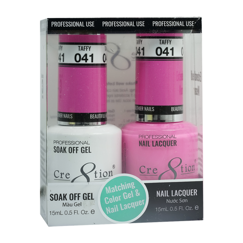 Cre8tion Gel Polish And Nail Lacquer, 0916-0882, 0.5oz, 041 KK0830