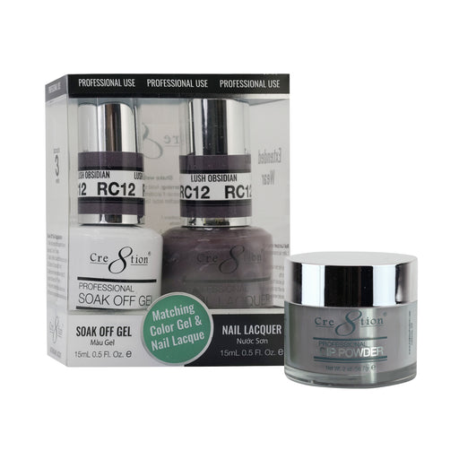 Cre8tion 3in1 Dipping Powder + Gel Polish + Nail Lacquer, Rustic Collection, RC12 KK1206