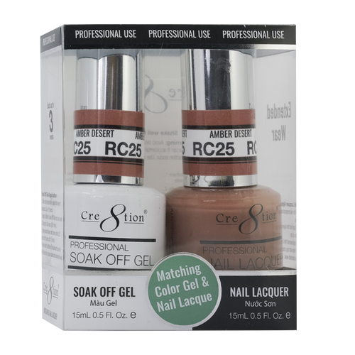 Cre8tion Gel Polish & Nail Lacquer, Rustic Collection, RC25, 0.5oz KK1712