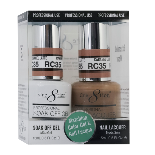 Cre8tion Gel Polish & Nail Lacquer, Rustic Collection, RC35, 0.5oz KK1712