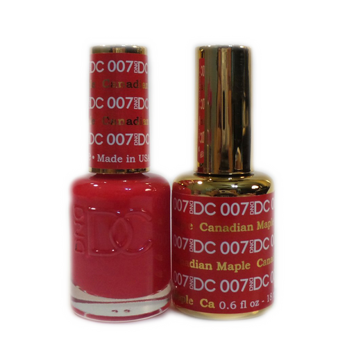 DC Nail Lacquer And Gel Polish (New DND), DC007, Canadian Maple, 0.6oz KK1015