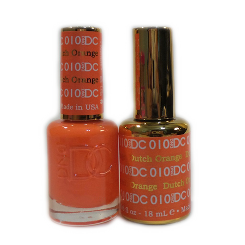 DC Nail Lacquer And Gel Polish (New DND), DC010, Dutch Orange, 0.6oz KK0918