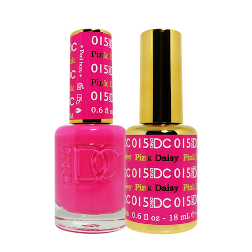 DC Nail Lacquer And Gel Polish (New DND), DC015, Pink Daisy, 0.6oz KK1015