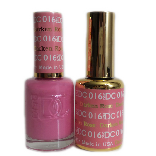 DC Nail Lacquer And Gel Polish (New DND), DC016, Darken Rose, 0.6oz KK1015