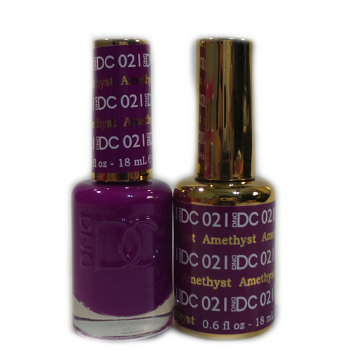 DC Nail Lacquer And Gel Polish (New DND), DC021, Amethyst, 0.6oz KK1012