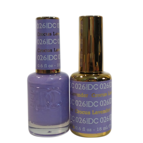 DC Nail Lacquer And Gel Polish (New DND), DC026, Crocus Lavender, 0.6oz KK1012