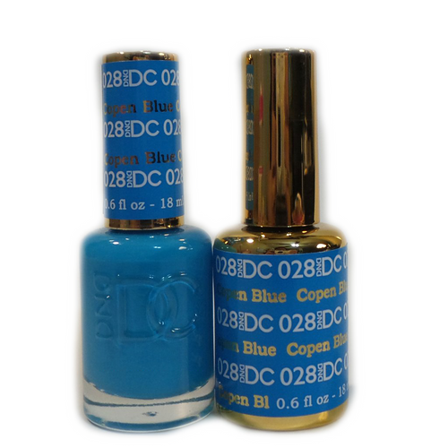 DC Nail Lacquer And Gel Polish (New DND), DC028, Copen Blue, 0.6oz KK1012
