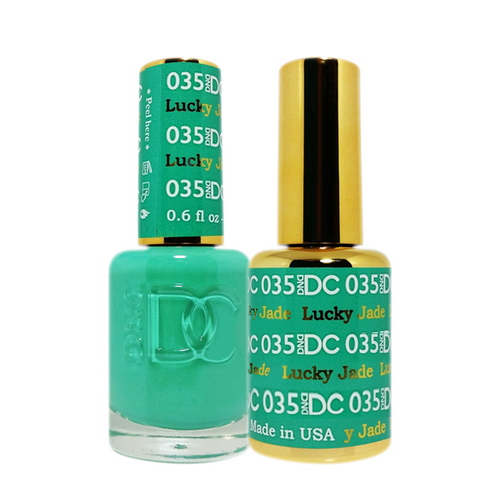 DC Nail Lacquer And Gel Polish (New DND), DC035, Lucky Jade, 0.6oz KK1012
