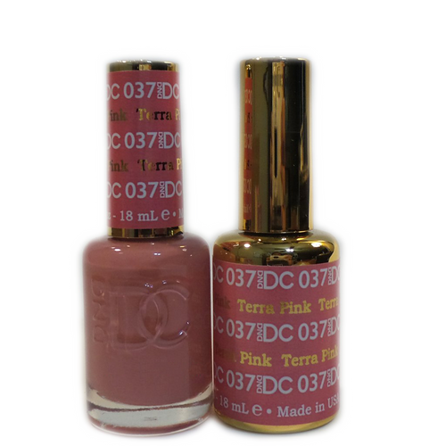 DC Nail Lacquer And Gel Polish (New DND), DC037, Terra Pink, 0.6oz KK1210