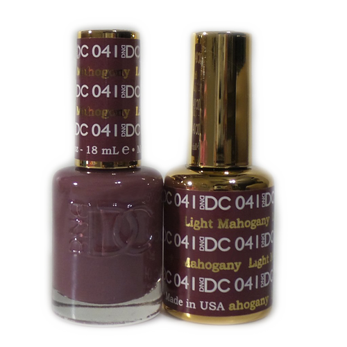 DC Nail Lacquer And Gel Polish (New DND), DC041, Light Mahogany, 0.6oz KK1012