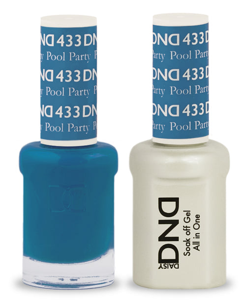 DND Nail Lacquer And Gel Polish, 433, Pool Party, 0.5oz KK1008