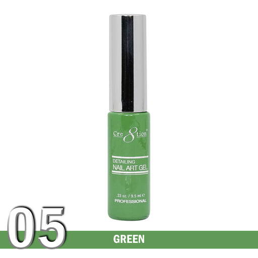 Cre8tion Detailing Nail Art Gel, 05, Green, 0.33oz KK1025