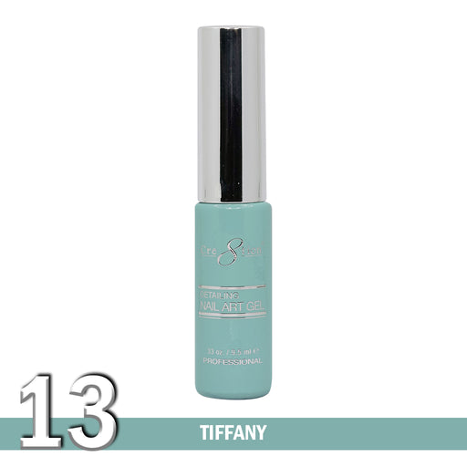 Cre8tion Detailing Nail Art Gel, 13, Tiffany, 0.33oz KK1025