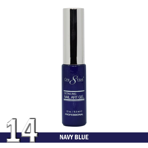 Cre8tion Detailing Nail Art Gel, 14, Navy Blue, 0.33oz KK1025