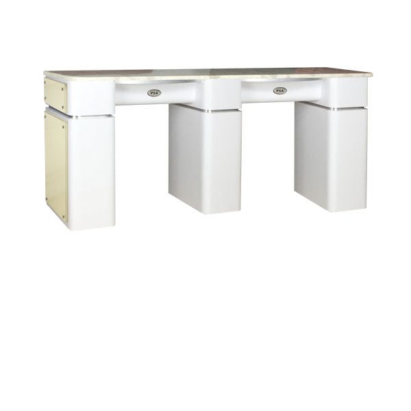 SPA Double Nail Table, White/Beige, DWBET-39 (NOT Included Shipping ...