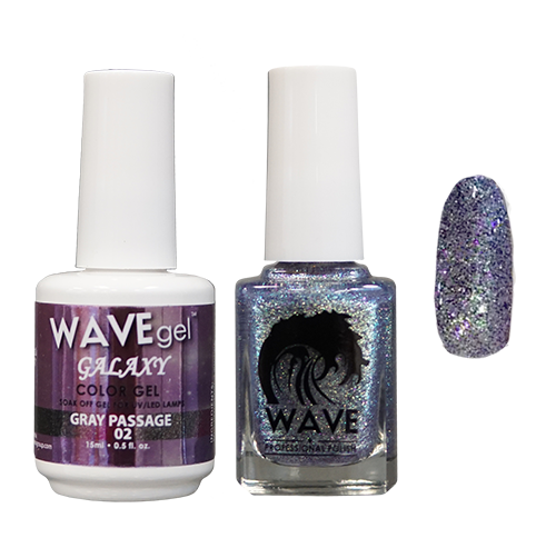 Wave Gel Dipping Powder + Gel Polish + Nail Lacquer, Galaxy Collection, 02 OK1129
