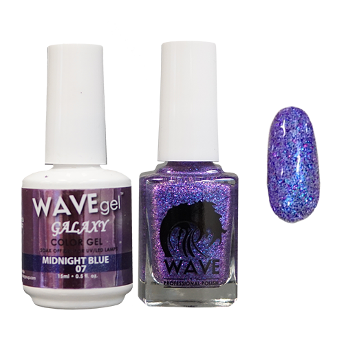 Wave Gel Dipping Powder + Gel Polish + Nail Lacquer, Galaxy Collection, 07 OK1129