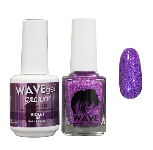 Wave Gel Dipping Powder + Gel Polish + Nail Lacquer, Galaxy Collection, 08 OK1129